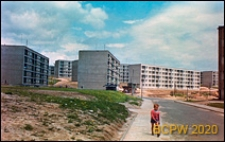 Osiedle mieszkaniowe w trakcie budowy, budynki mieszkalne pięciokondygnacyjne, Kraków-Nowa Huta