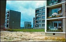 Osiedle mieszkaniowe z pięciokondygnacyjnymi budynkami mieszkalnymi, wnętrze międzyblokowe, Kraków-Nowa Huta