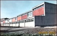 Osiedle E (E3), Szkoła Podstawowa nr 12 (obecnie Zespół Szkół nr 2) przy ulicy Elfów 9, widok zewnętrzny panoramiczny, Tychy-Nowe Tychy