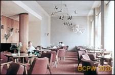 Kawiarnia Mimoza przy placu Bieruta, widok wnętrza, Tychy-Nowe Tychy
