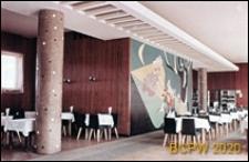 Kawiarnia, widok wnętrza z malowidłem naściennym, Tychy-Nowe Tychy