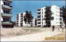 Osiedle mieszkaniowe Przymorze, budynki mieszkalne pięciokondygnacyjne z drzewami wokół osiedla, Gdańsk-Przymorze
