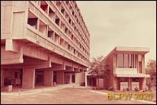 Miasteczko Uniwersyteckie, Dom Brazylijski, widok zewnętrzny gmachu głównego oraz budynek klubu, Paryż, Francja