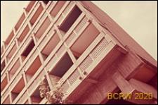 Miasteczko Uniwersyteckie, Dom Brazylijski, fragment elewacji gmachu głównego, widok naroża budynku, Paryż, Francja