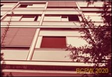 Miasteczko Uniwersyteckie, Pawilon Szwajcarski, detal elewacji budynku, okno, Paryż, Francja