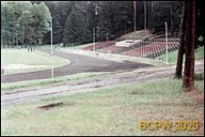 Stadion Leśny, boisko z bieżnią i trybunami, Olsztyn