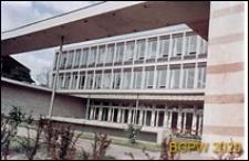 Dom Technika NOT (Naczelnej Organizacji Technicznej), Dzielnica Cesarska przy ulicy Wieniawskiego 5/9, fragment elewacji, Poznań