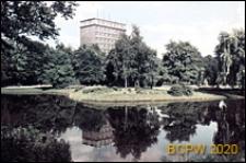 Stare Miasto, Aleja Niepodległości, Park im. Karola Marcinkowskiego, wieżowiec Miastoprojektu, widok ogólny, Poznań