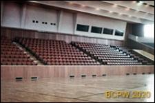 Hala sportowa, wnętrze, widok trybun i boiska, Siemianowice