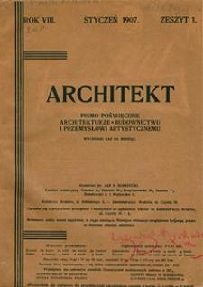 Architekt 1907 z. 1