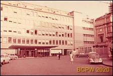 Szpital Kantonalny, fragment elewacji, wejście do budynku, Genewa, Szwajcaria