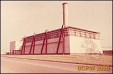 Europejski Ośrodek Badań Jądrowych CERN, pawilon przemysłowy, widok zewnętrzny, Genewa, Szwajcaria