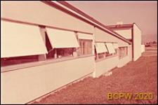 Europejski Ośrodek Badań Jądrowych CERN, hala laboratoryjna, fragment elewacji, Genewa, Szwajcaria