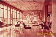 Szpital Kantonalny, wnętrze, hol, Genewa, Szwajcaria