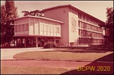 Gimnazjum Collège du Belvédère, widok zewnętrzny, wejście do budynku, Lozanna, Szwajcaria