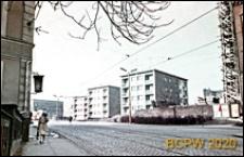 Osiedle Stare Miasto, ulica Dworcowa, fragment nowej zabudowy na terenach wyburzonych, Szczecin
