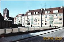 Stare Miasto, centrum, widok od strony wybrukowanej ulicy, Szczecin