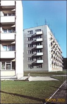 Śródmieście, bloki mieszkalne sześciokondygnacyjne z ciągiem balkonów, Szczecin