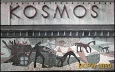 Kino Kosmos przy Alei Wojska Polskiego, detal, mozaika ceramiczna nad wejściem głównym, Szczecin